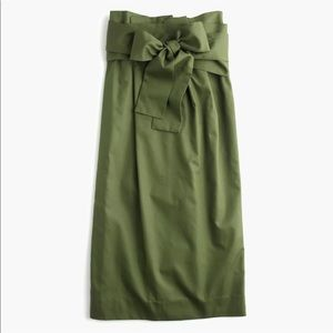 J. Crew Paper Bag Tie Waisted Midi Skirt sz 10